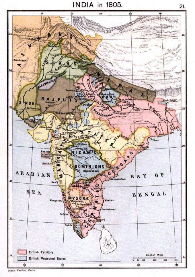 India-Kingdoms-In-1805