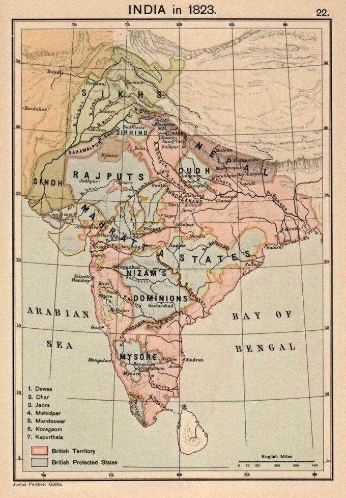 India-Kingdoms-In-1819